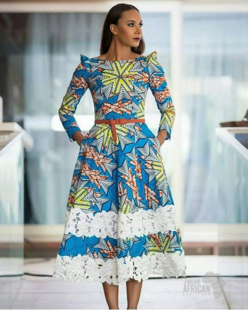 Fall in love with this beautiful ankara flare short gown style you are guaranteed to love. Take a look!