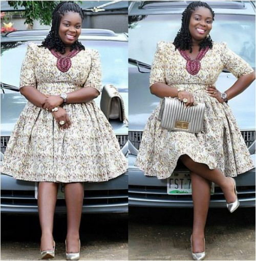 The flare of this Ankara dress is so cool and nicely done and its one of the best Styled design I have encountered. Get more Ankara styles on Needleplus.com