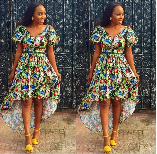 A look will convince you of its Ankara short gown goodness ;) ....I do not know how to describe this style but its simply gorgeous.